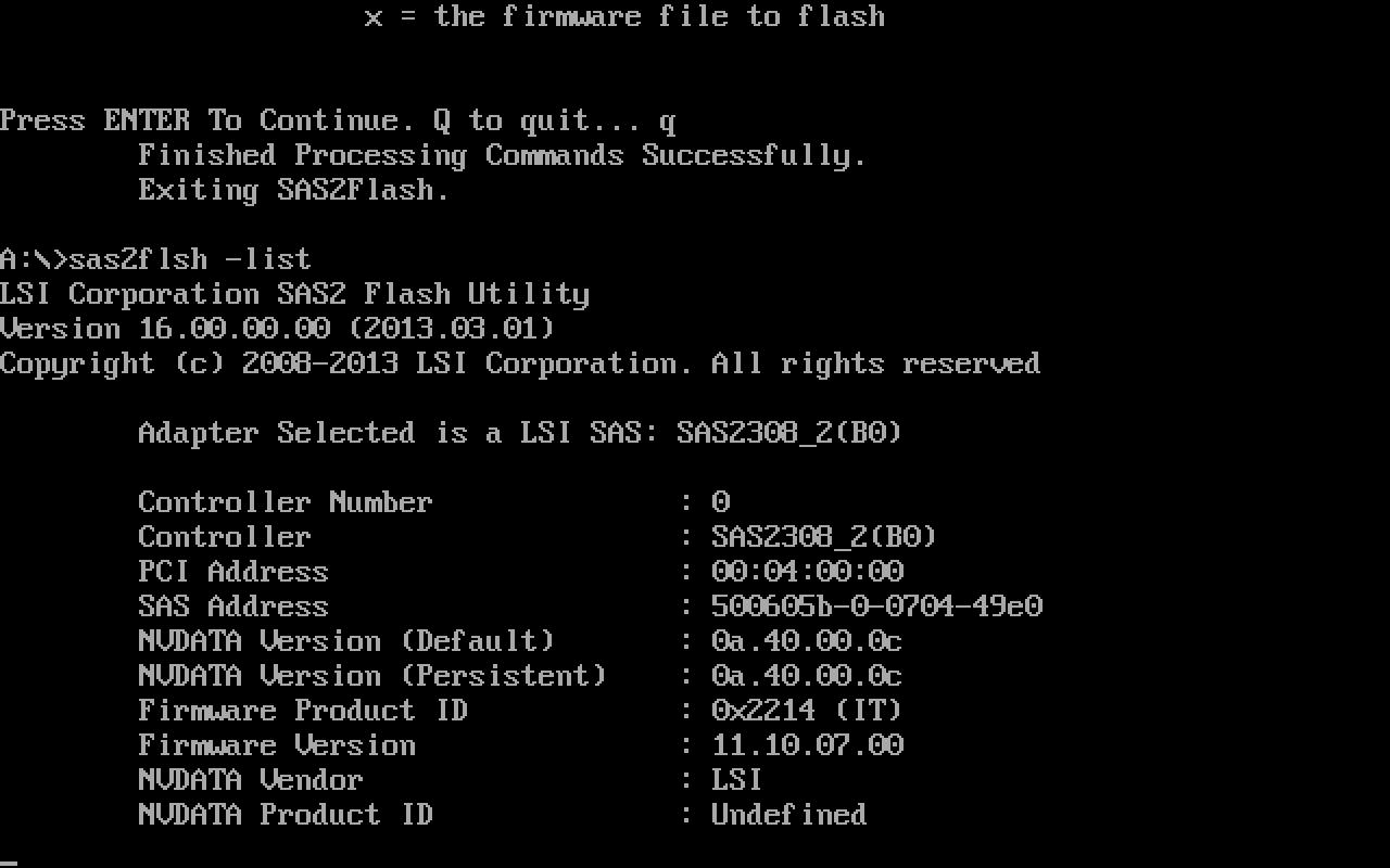 LSI SAS firmware nonsense
